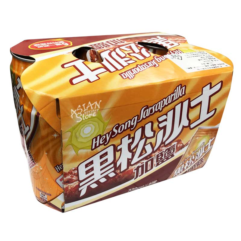 【常温便】加塩黒松沙士(台湾コーラ)330mlx6/台湾加塩黒松沙士330mlx6
