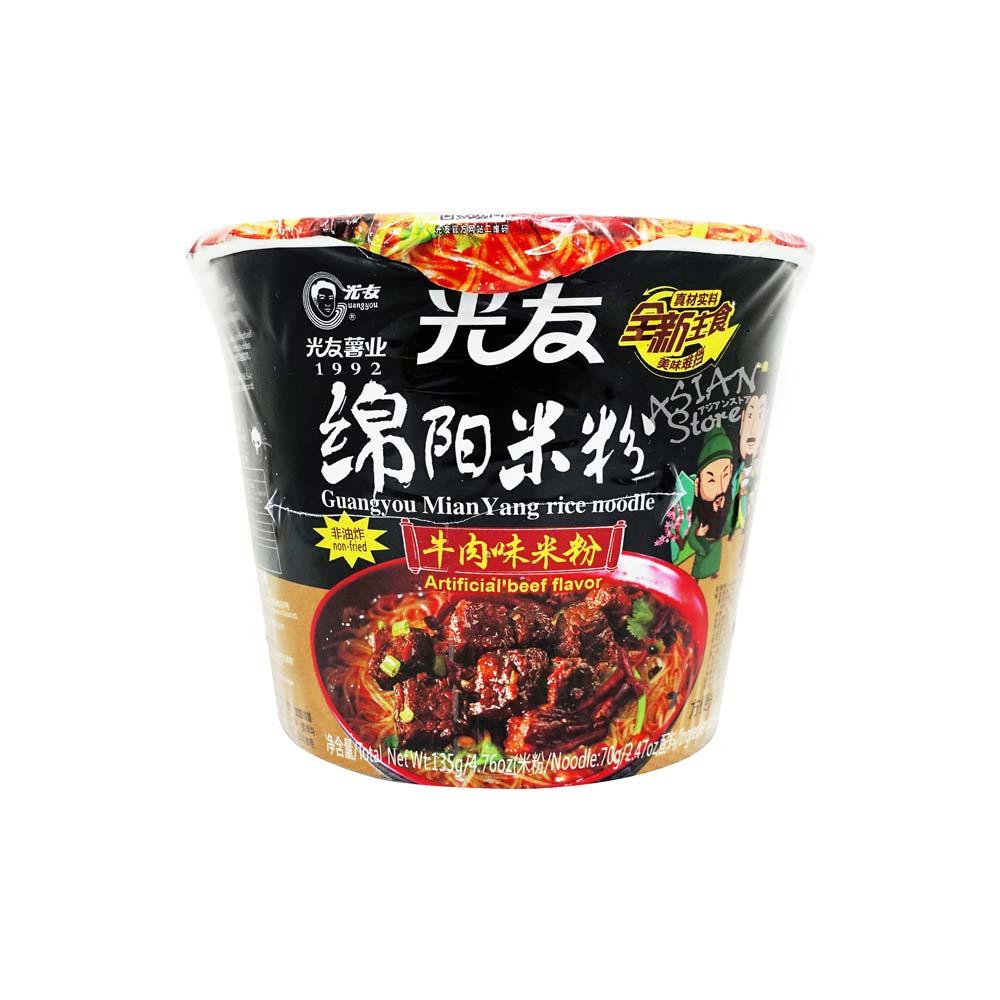 【常温便】即席ビーフン ビーフ味(カップ)/光友綿陽米粉 牛肉味135g 碗