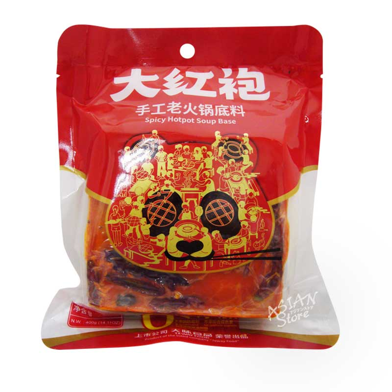 【常温便】大紅袍手作り火鍋の素(麻辣味)/大紅袍麻辣手工老火鍋底料 400g