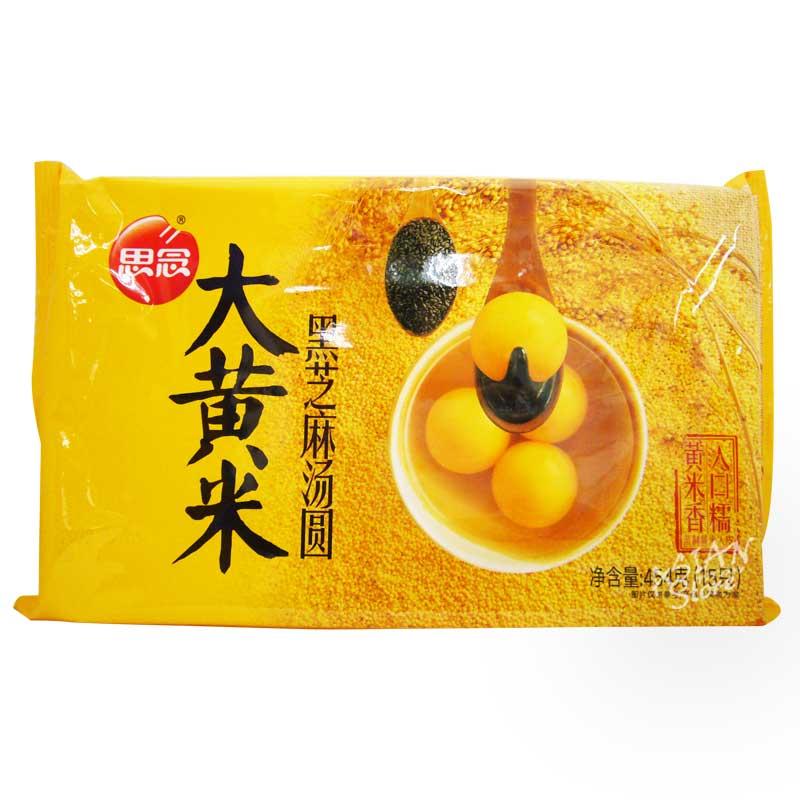 【冷凍便】もちあわ黒ごまタンエン/思念大黄米�芝麻湯圓454g