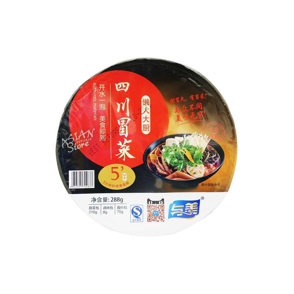 【常温便】四川風春雨スープ マーラー味(カップ)/四川冒菜 麻辣味288g(碗)
