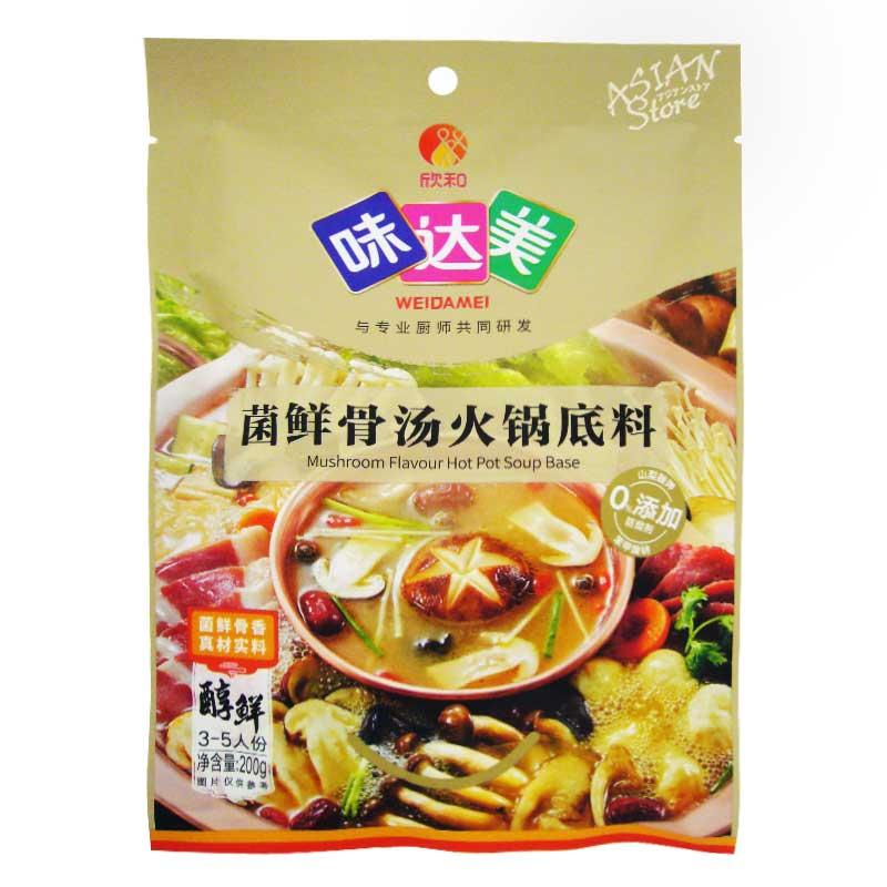 【常温便】味達美火鍋の素(きのこ豚骨味)/味達美菌鮮骨湯火鍋 (200g)