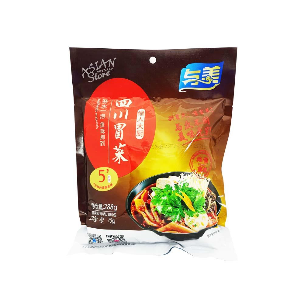 【常温便】四川風春雨スープ マーラー味/四川冒菜 麻辣味288g(袋)