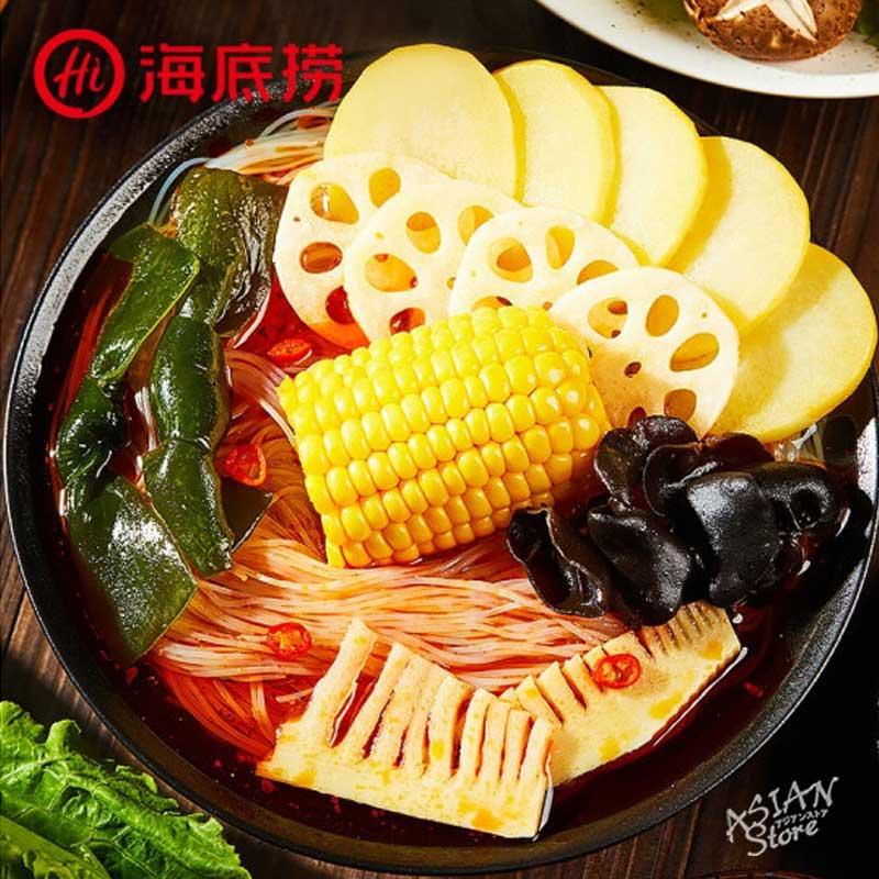 【常温便】海底撈自煮火鍋ベジタリアン(マーラー味)/海底撈自熱小火鍋(香辣素食) 410g