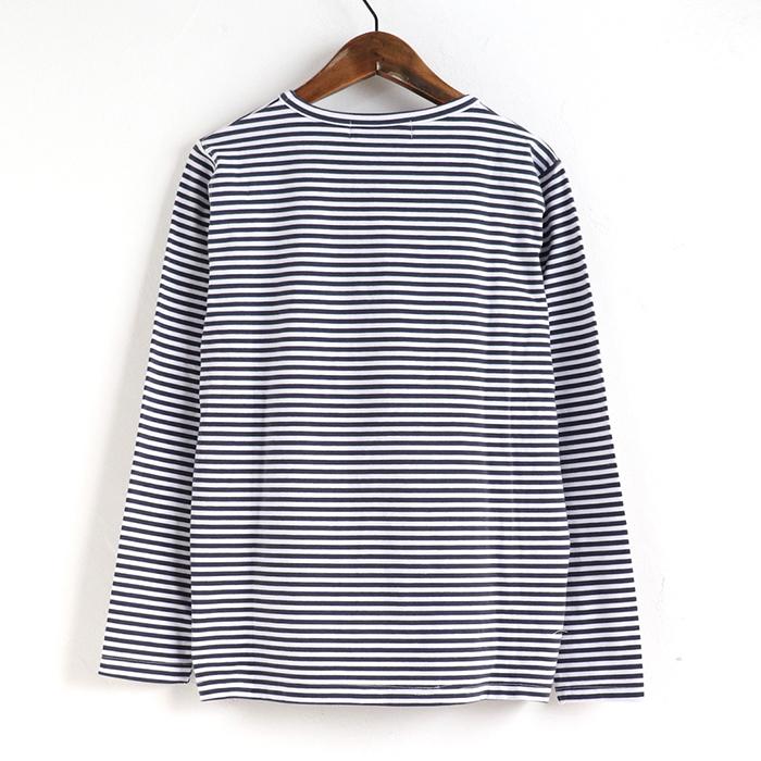 サガラうさぎ フェイス ボーダー 長袖Tシャツ 21SS