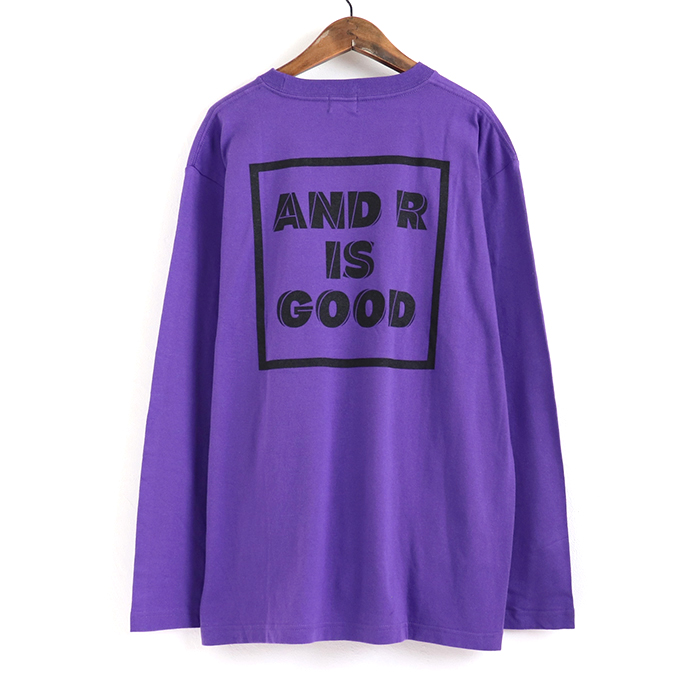 andR:20AW GOOD プリント 長袖Tシャツ 【受注生産】