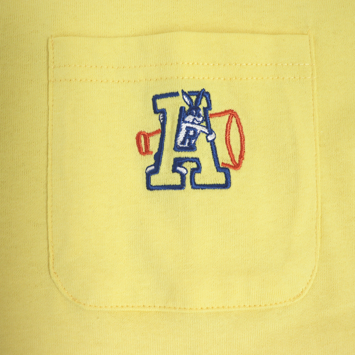 Aうさぎ ポケットチビ刺繍 半袖Tシャツ