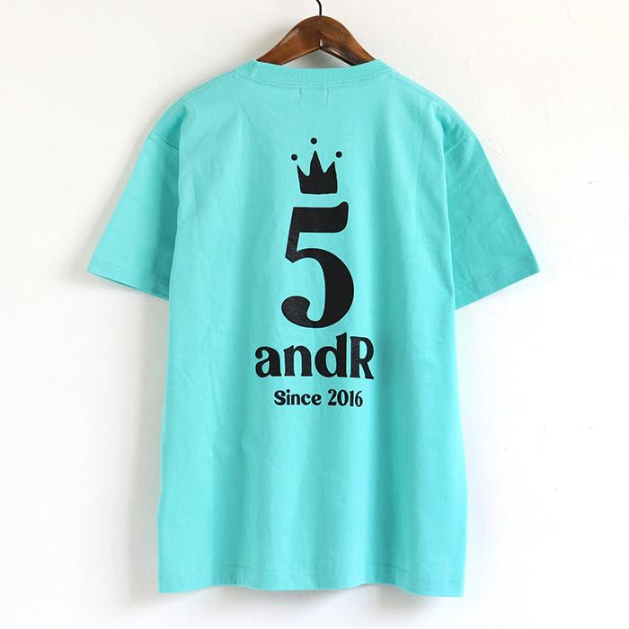 andR;21SS 5th Anniversary ロゴプリント 半袖Tシャツ 【受注生産】