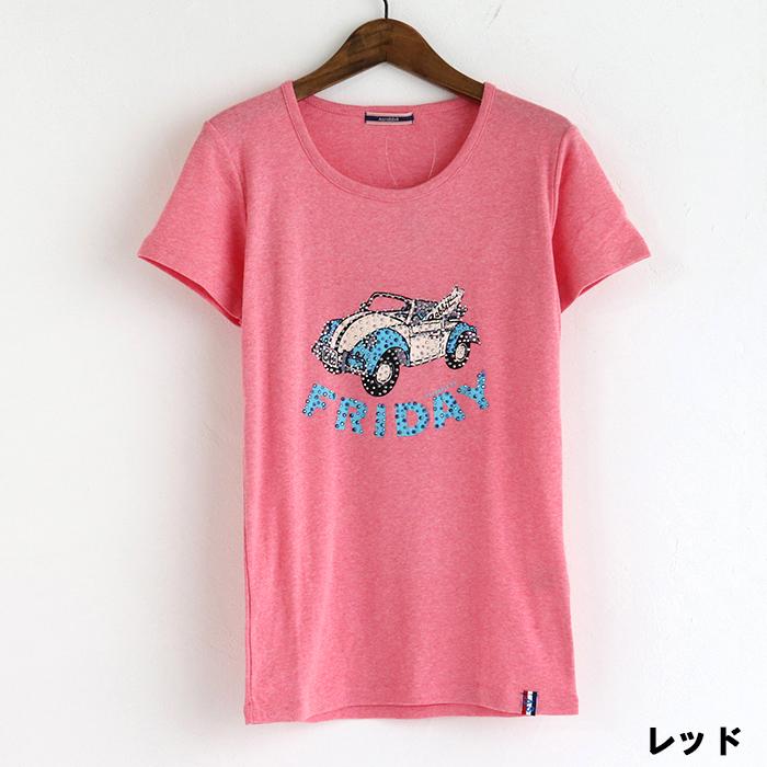 ワーゲン ラインストーン 半袖Tシャツ