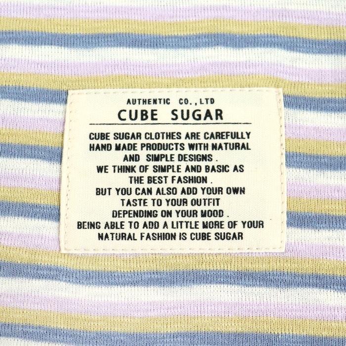 CUBE SUGAR ボーダー ビッグサイズ 長袖Tシャツ
