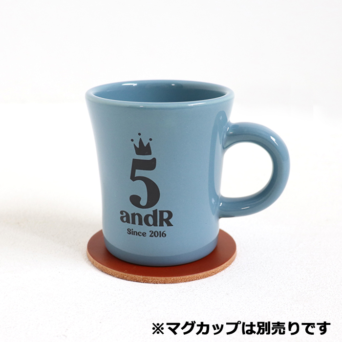 andR;21SS 5th Anniversary ロゴ入り 革コースター 【受注生産】