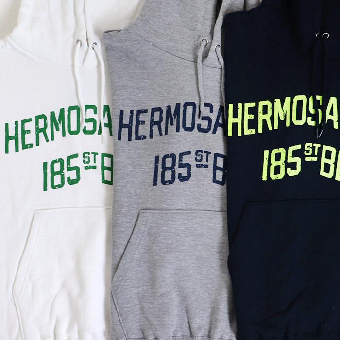 【お買得】HERMOSA MART プリント 裏毛 プルパーカー