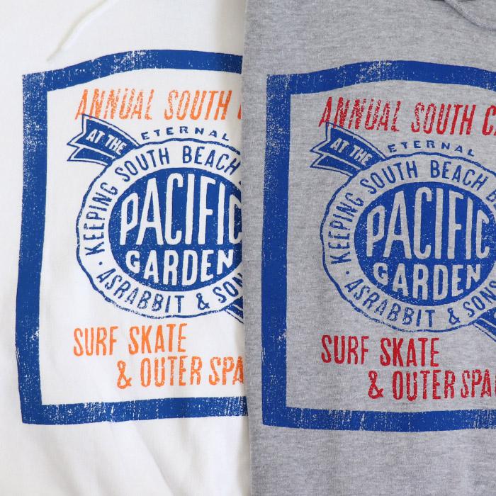 【お買得】Pacific プリント 裏毛 プルパーカー