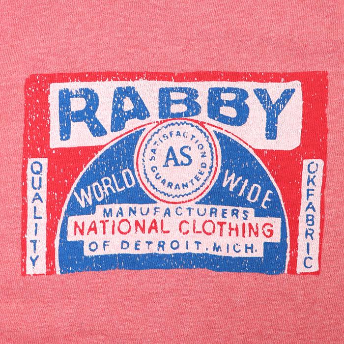 RABBY プリント 裏毛 プルオーバー