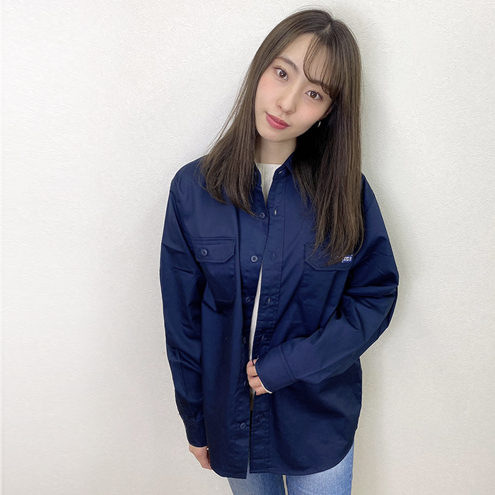 andR:20AW バックロゴプリント ワークシャツ 【受注生産】