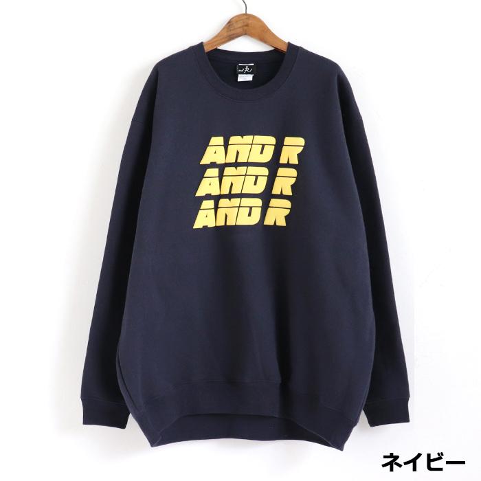 andR:20AW 3LINE 立体ロゴ プリント プルオーバー【受注生産】