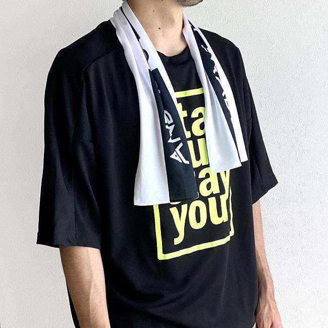 andR; 【ひんやりシリーズ】 クール マフラータオル 巾着付き【受注生産】