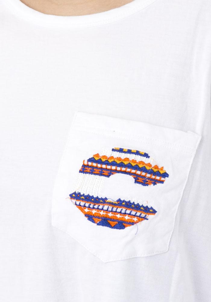 C&F刺繍ポケット ドルマン Tee