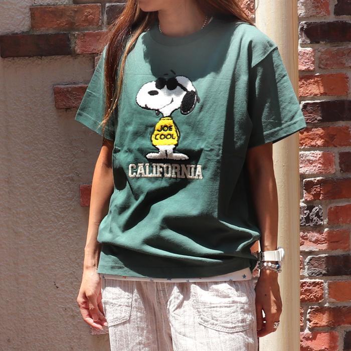 SNOOPY サガラ刺繍 半袖Tシャツ