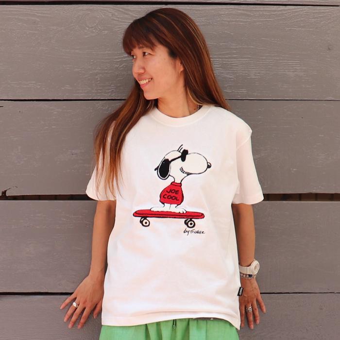 SNOOPY スケボー サガラ刺繍 半袖Tシャツ
