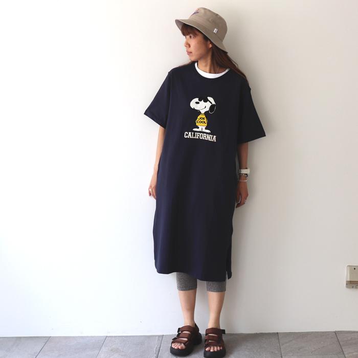 SNOOPY サガラ刺繍 ワンピース