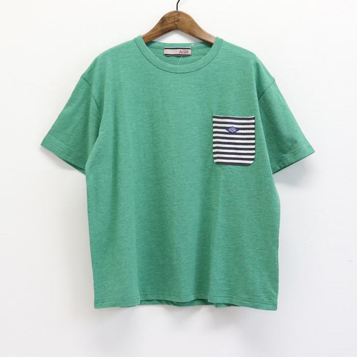 ボーダーポケット  半袖Tシャツ
