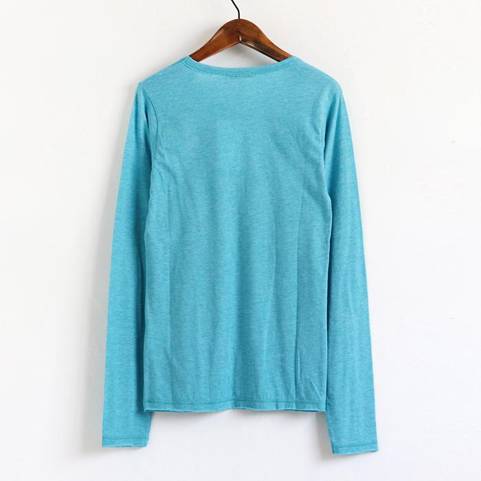 ギター ミニ刺繍 三者混 長袖Tシャツ