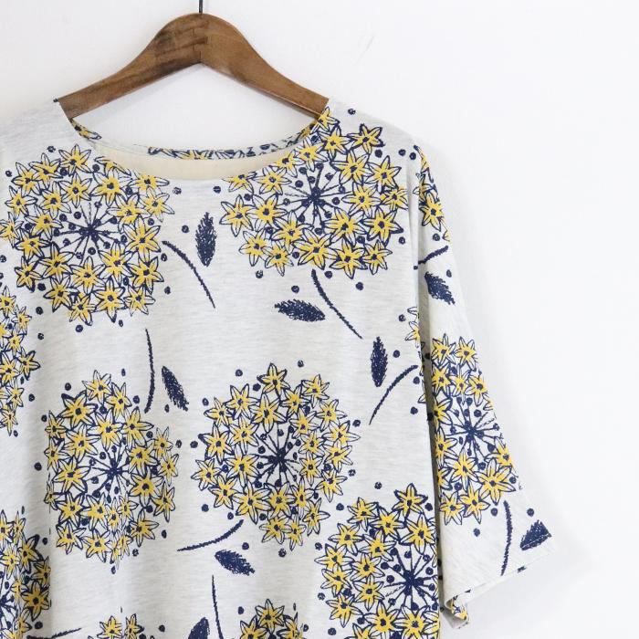 BARNDOOR 花柄プリント ドルマン プルオーバー