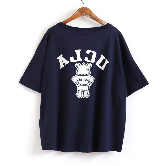 【再入荷】 ANTIBAL UCLA ベア— フロッキープリント ゆったり Tシャツ