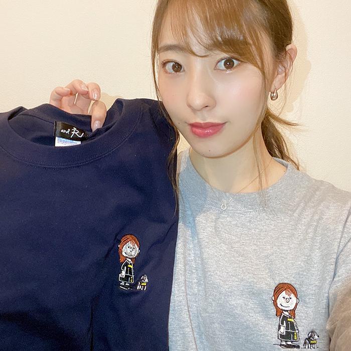 andR;21SS 【イラストシリーズ】 刺繍 長袖Tシャツ 【受注生産】