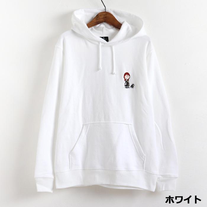 andR;21SS 【イラストシリーズ】 刺繍 プルパーカー 【受注生産】