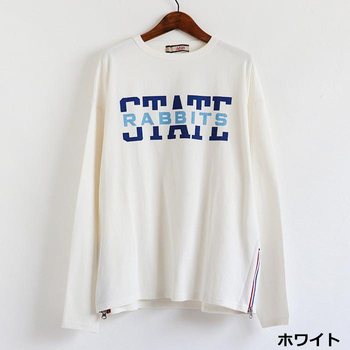 STATE プリント サイドZIP 長袖Tシャツ