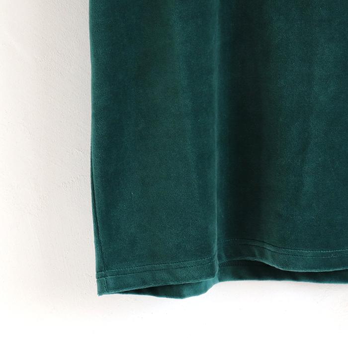 スマイルうさぎ スパンコール ベロア 半袖Tシャツ