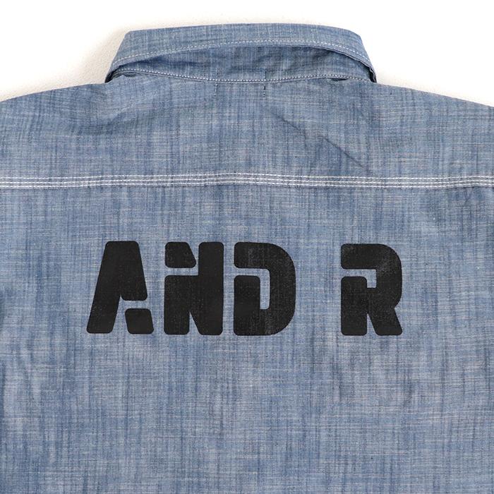 andR;21SS ロゴプリント&ひし形ミニワッペン付き 半袖シャツ 【受注生産】