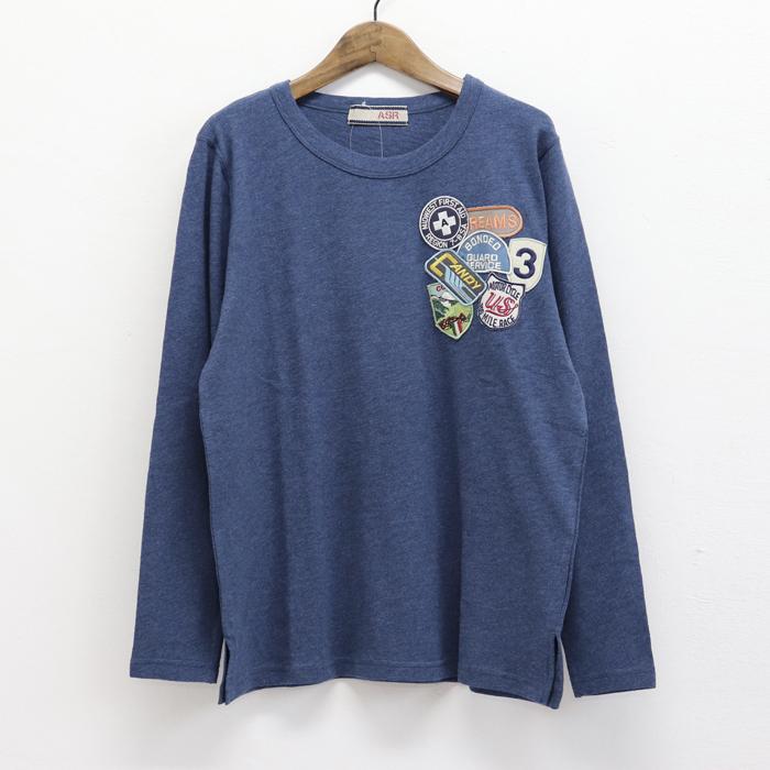 ワッペンいっぱい 長袖Tシャツ