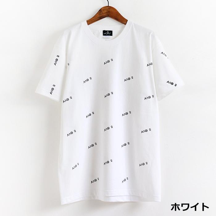 andR;21SS ロゴ総柄 半袖Tシャツ 【受注生産】
