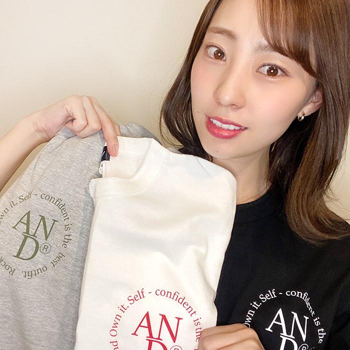 andR.21AW 丸ロゴプリント ヘンリーネック 半袖Tシャツ【受注生産】
