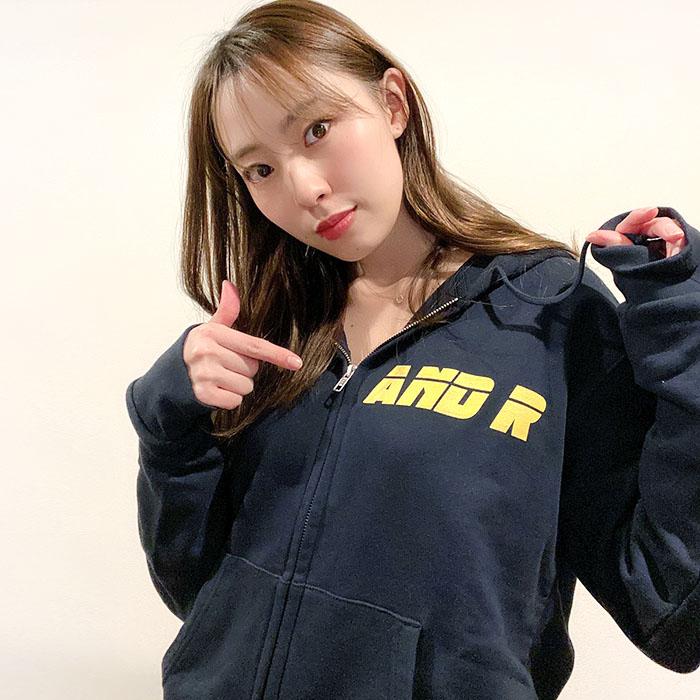 andR: 【特別プライス】 3LINE プリント ZIPパーカー【受注生産】