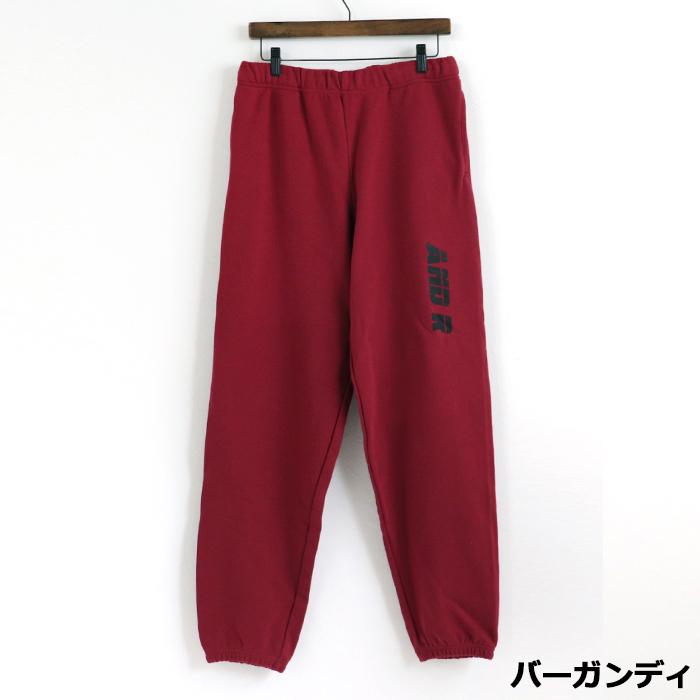 andR: 【特別プライス】 3LINE プリント スウェットパンツ 【受注生産】