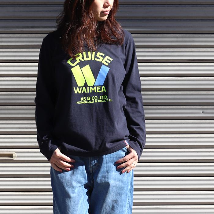 CRUISE プリント 長袖Tシャツ