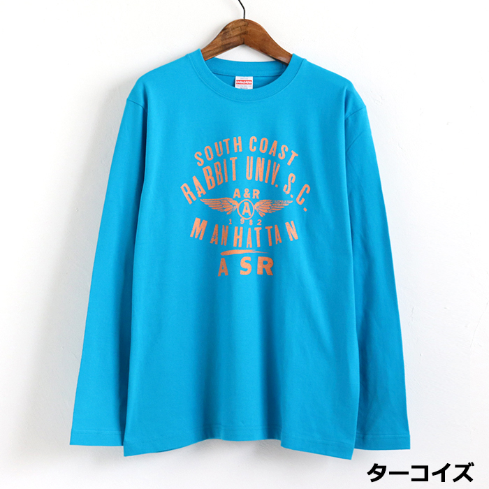 UNIV. プリント 長袖Tシャツ