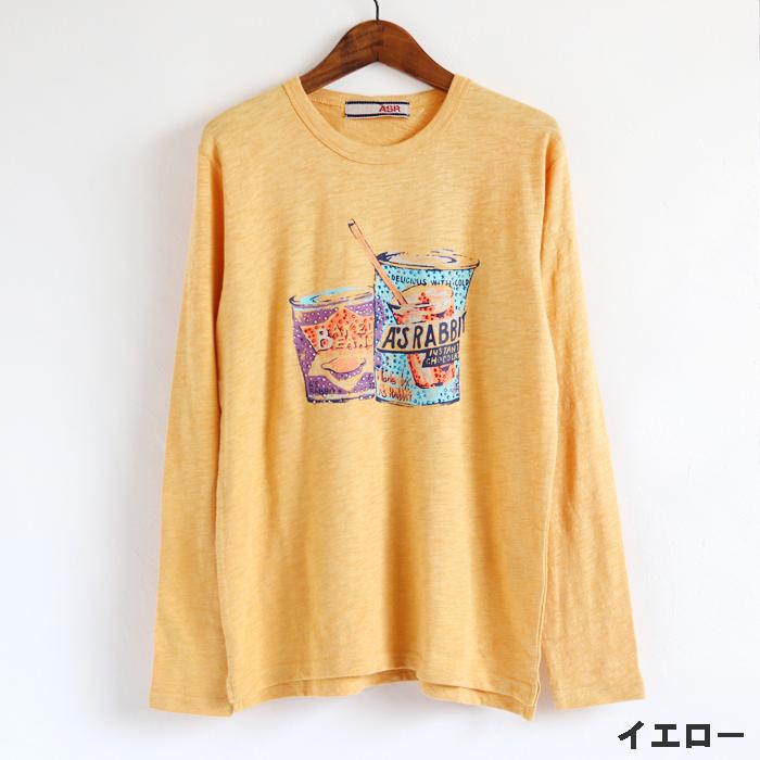 缶 ラインストーン 長袖Tシャツ