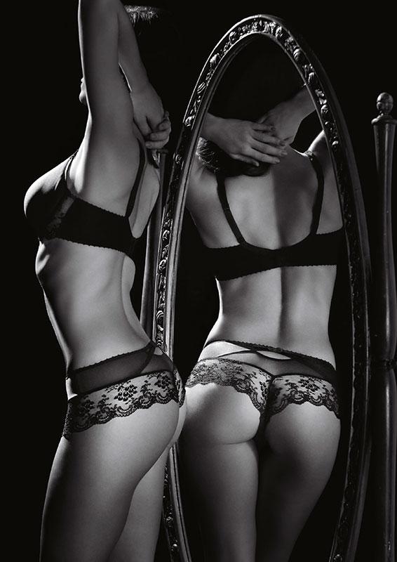 DA Aubade A L'amour ハーフカップブラ Noirカラー