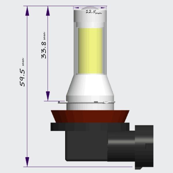 LEDフォグランプ H8 H11 H16 ホワイト レモンイエロー COBチップ LEDバルブ 簡単取付 プロジェクターレンズ搭載 12v 24v 普通車 トラック バス