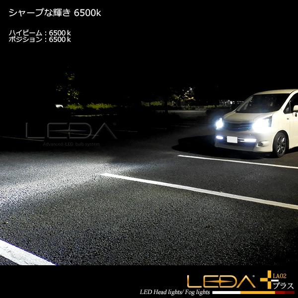 LED ヘッドライト D2S D2R D4S D4R LEDA レダ LA02 プラス 車検対応 6600lm CREE LED 6500K 5000K ロービーム12v