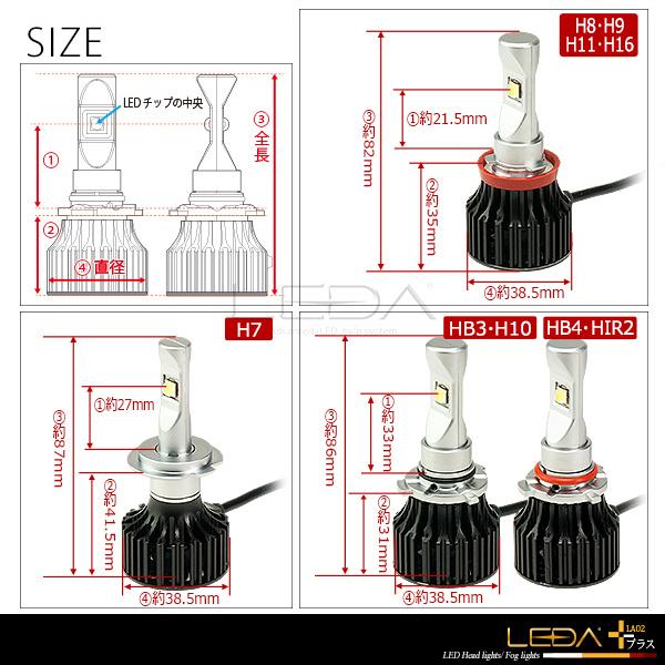 シエンタ 17#系 ハイビーム LED化 適合 LEDA-レダ LA02 プラス 車検対応 HB3 5000K 6500K 平成27.07〜