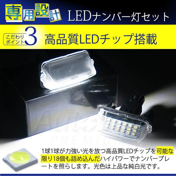 シエンタ NCP170 専用 LEDナンバー灯セット 純正ユニット 純正交換タイプ 白 LEDライセンスランプ 2015年7月〜
