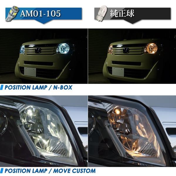 ルームランプ ナンバー灯 ポジション球 T10 LED 白 ホワイト 12v 50球 AM01-105 [送料無料] オートサイト/AutoSite