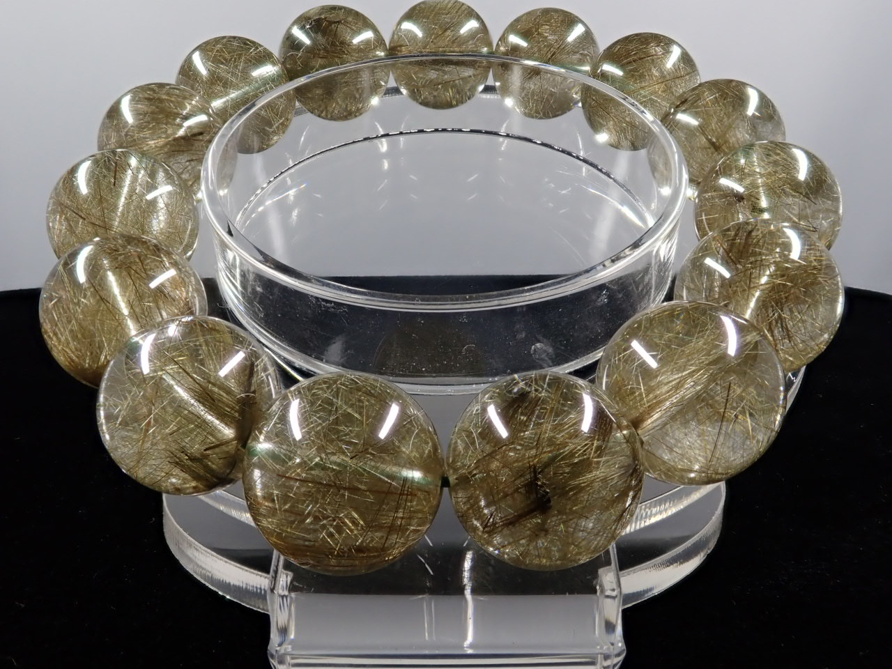グリーンルチル(二酸化チタン) ブレスレット 14.5� 5A