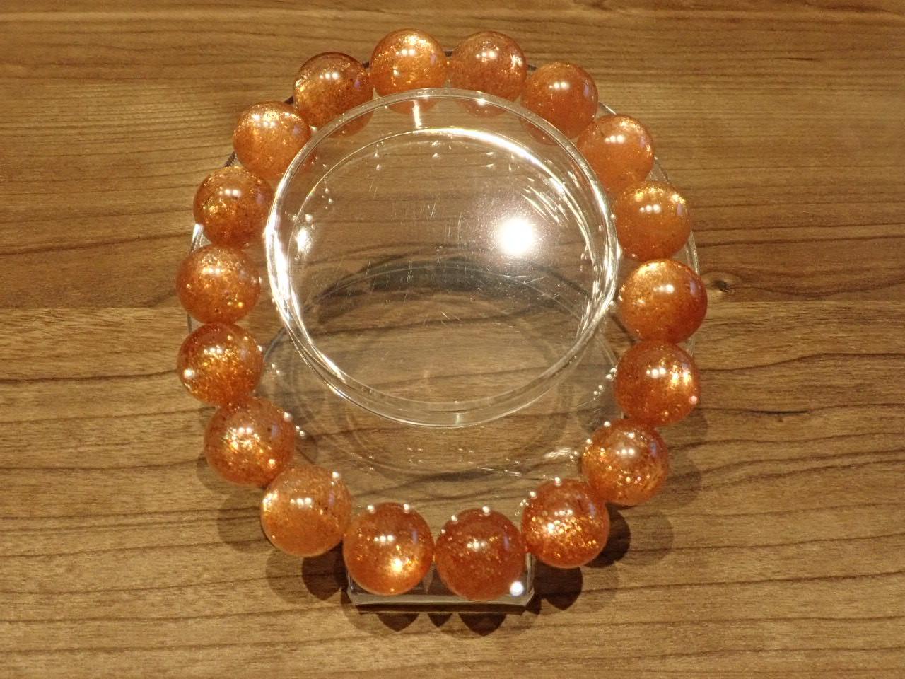 オレンジサンストーン ブレスレット 12.3� XA